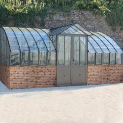 Serre MIRABEAU avec dos vitré sur muret