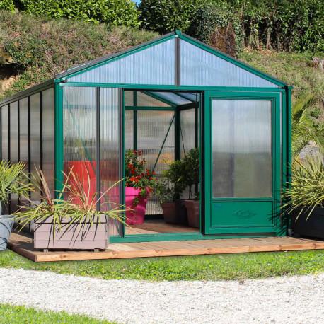 Serre de jardin en verre trempé SUPRA 20,10 m² - Coloris RAL au choix