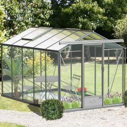 Serre de jardin en verre trempé ESSENTIA 9 m² - Aluminium