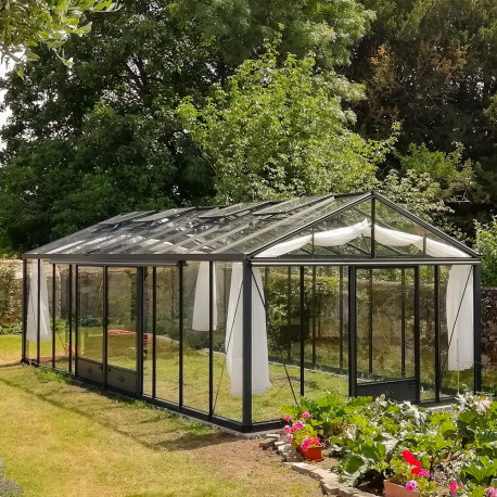 Serre de jardin en verre trempé SUPRA 28,60 m² - Coloris RAL au choix