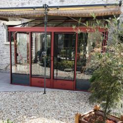 Serre adossée Lams LUXIA 12,35 m² - Aluminium naturel