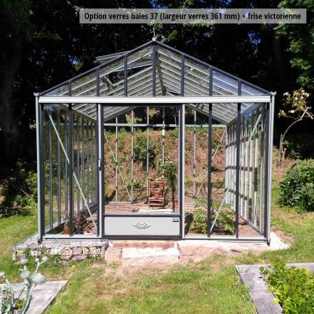 Serre de jardin en verre trempé LUXIA 11.80 m² - Aluminium