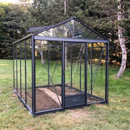 Serre de jardin en verre trempé LUXIA 10,80 m² - Coloris RAL au choix