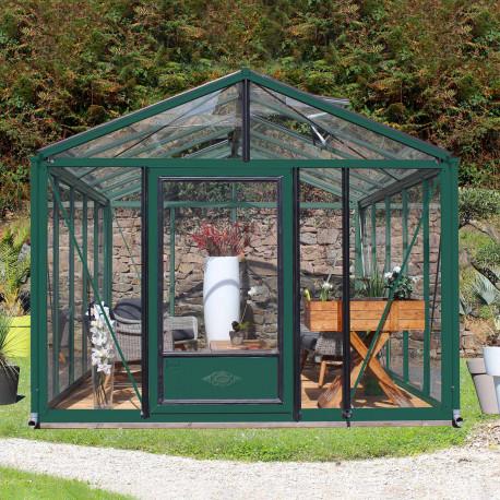 Serre de jardin en verre trempé SUPRA 19 m² - Coloris RAL au choix