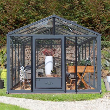 Serre de jardin en verre trempé SUPRA 16,70 m² - Coloris au choix