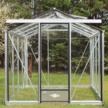 Serre de jardin en verre trempé ESSENTIA 12,50 m² - Aluminium