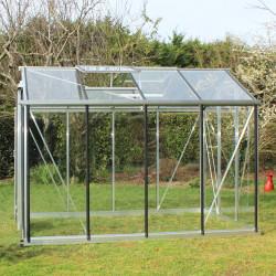 Serre de jardin en verre trempé 4 mm ESSENTIA 9,60 m² - Aluminium