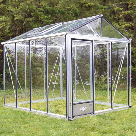 Serre de jardin en verre trempé 4 mm LUXIA 14,30 m² - Aluminium