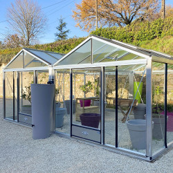 Serre 2 CHAPELLES - Aluminium naturel