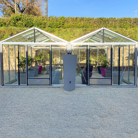 Serre 4 CHAPELLES - Aluminium naturel