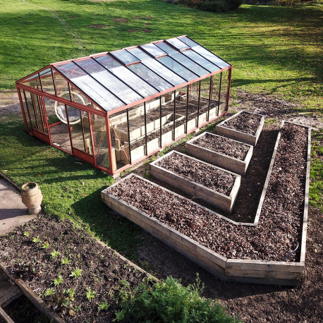 Serre de jardin en verre trempé SUPRA 31,20 m² - Coloris RAL au choix