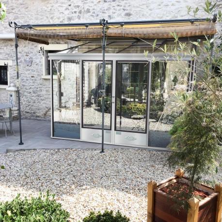 Serre adossée Lams LUXIA 7,22 m² - Aluminium naturel