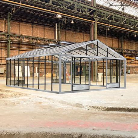 Serre de jardin en verre trempé SUPRA 34,70 m² - Aluminium