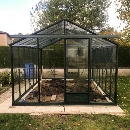 Serre de jardin Essentia largeur 3,09 m x 5,30 m - Coloris vert sapin (RAL 6009)