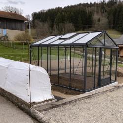 Serre de jardin SUPRA 3,15 m x 3,80 m - Coloris gris anthracite (RAL 7016)