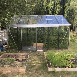 Serre de jardin SUPRA 3,40 m x 4,57 m - Aluminium naturel