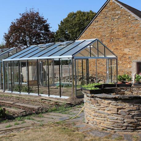 Serre de jardin SUPRA 4,60 m x 5,30 m - Aluminium naturel