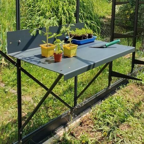 Table à rempoter sur une serre Natura - Gris anthracite (RAL 7016, finition sablée)